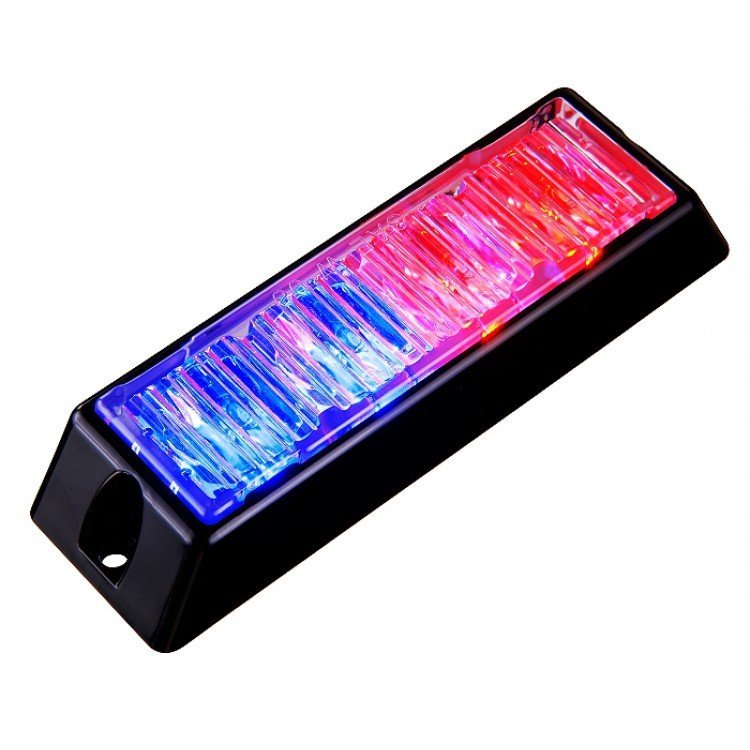 Body Mount Light Head 4 LED with red and blue color BM41S-RB-3W
