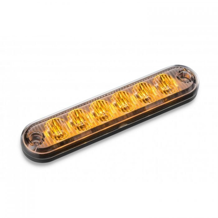 Body Mount Light Head 6 LED FLH61-A-E9 amber color
