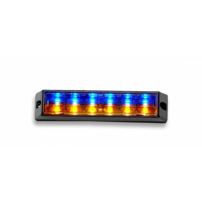 Body Mount Light Head 12 LED blue and amber color LH122-A-BPLP-E9