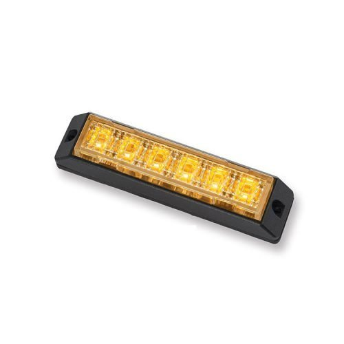 Body Mount Light Head 6 LED amber color LH61SS-A-3W