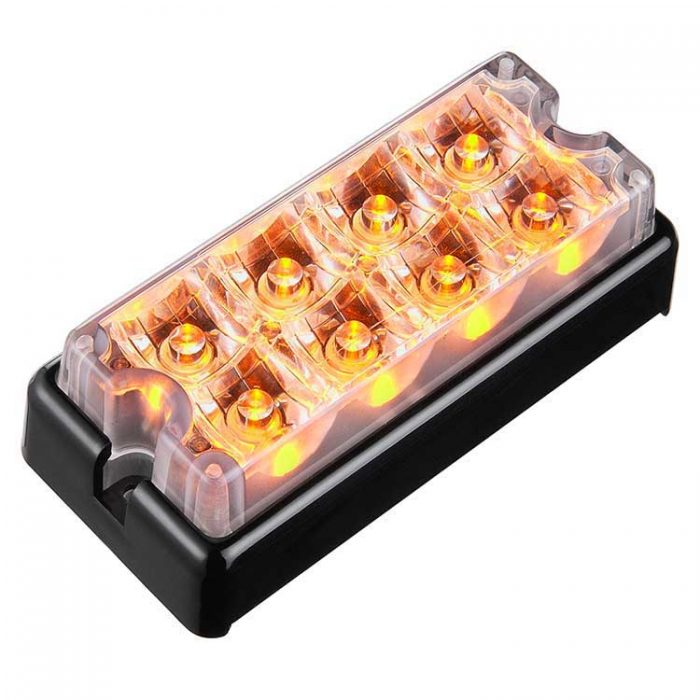 Body Mount Light Head 8 LED amber color LH81-A-3W