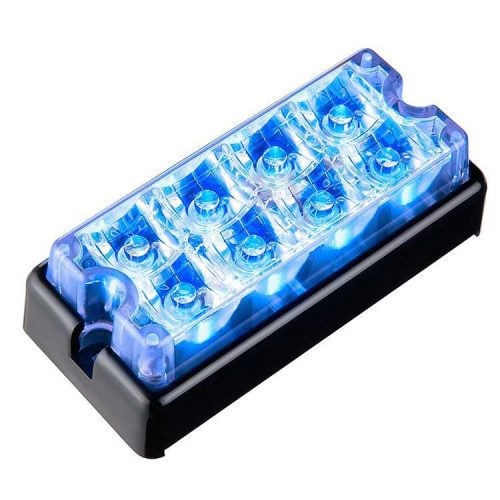 Body Mount Light Head 8 LED blue color LH81-B-3W