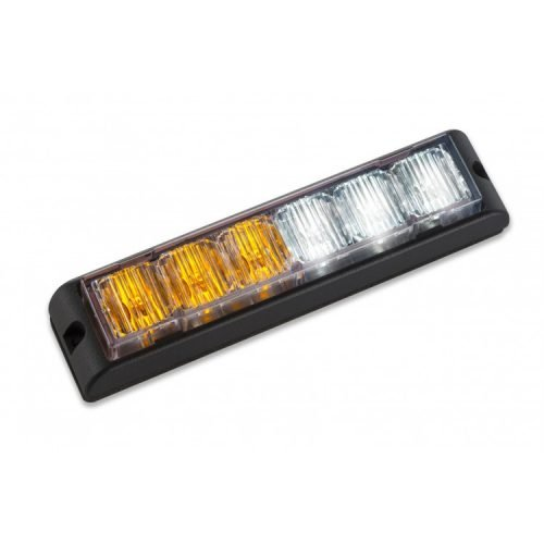 Body Mount Light Head 6 LED amber and white color LHA61S-AW-3W