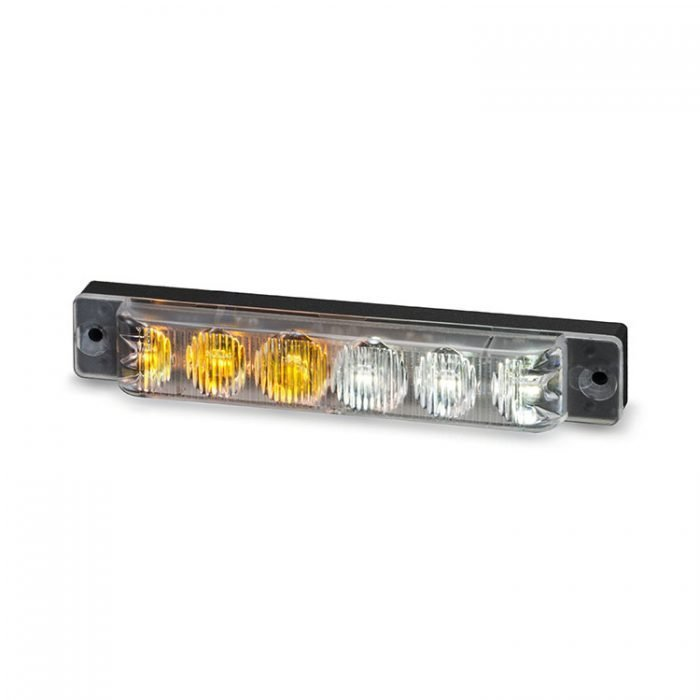 Body Mount Light Head 6 LED Amber+White color SA61-AW