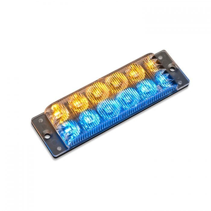 Body Mount Light Head 12 LED Blue+Amber color SA62-BA-E9