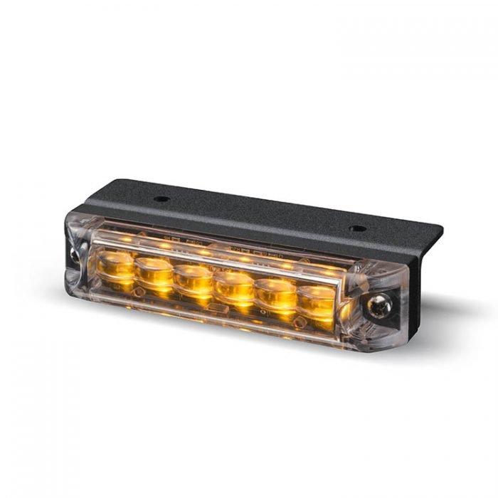Body Mount Light Head 6 LED Amber Color ULH61-A-E9